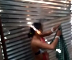 Desi girl maid bath in labour shed new one.. first upload