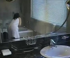 Thai private couple liking Sex Fucking and sucking forth bathroom
