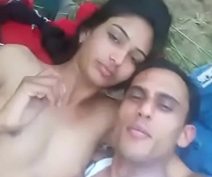 Real village couple mating outdoor