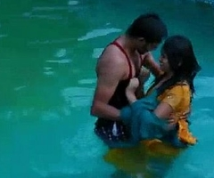 Lovers hawt relationship concerning swimming pool