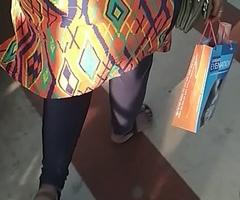 Big Indian aunty ass walking