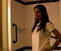 Indian College Girl Divya Taking Shower Fingering Her Unused Pussy