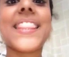 Indian girl showing her bowels plus pussy