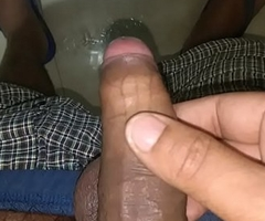 Indian guy uncircumsised dick urinates off removing foreskin