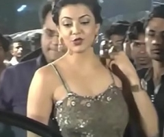 Hot Indian actresses Kajal Agarwal showing their succulent asses with the addition of ass show. Fap challenge #1.