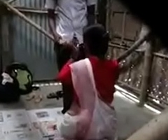 indian trainer fucked hard by pupil open-air