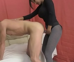 Hot Indian Intercourse Therapeutist Fucks Mendicant with Strapon plus Teat Fucks him