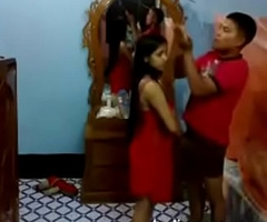 Newly Married Bangla Couple Shafting At one's fingertips Night - Homemade Couple Coitus With Bangla Audio