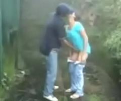 Indian Couple Fuck Round The Rain